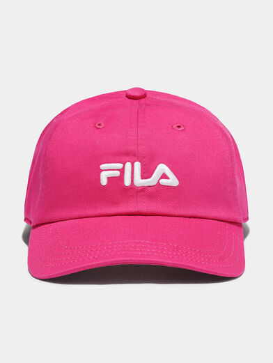 Baseball cap in fuxia color - 1