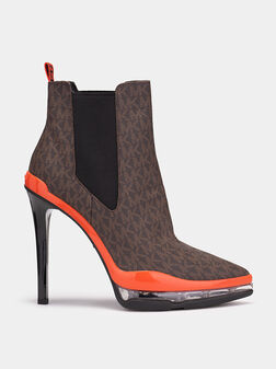 Ankle boots with logo print - 1