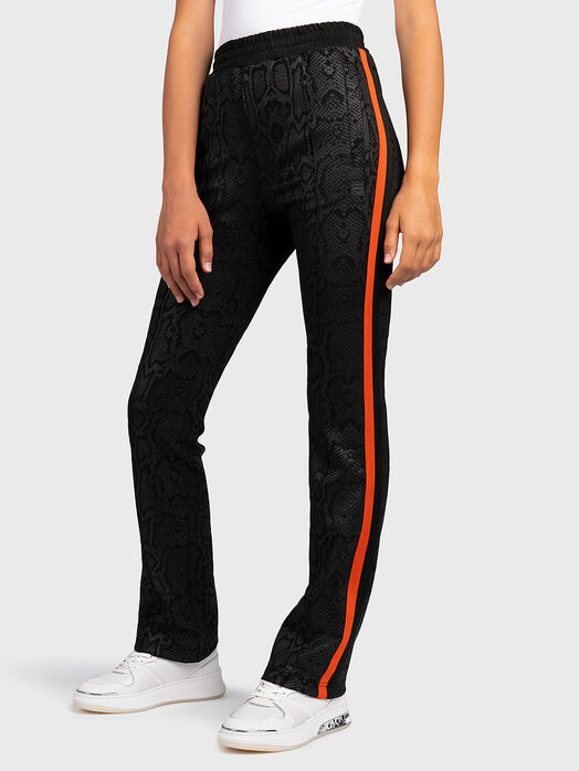 PANDORA Sports pants with animal print