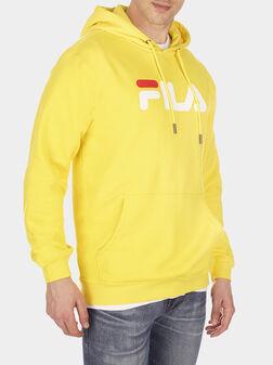 Унисекс суитшърт PURE в жълт цвят - 1