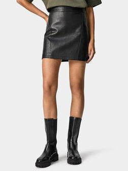 Leather effect mini skirt LAURA - 1