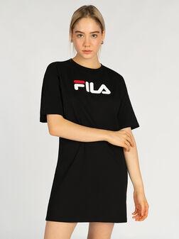 Cotton tee dress with maxi logo - 1