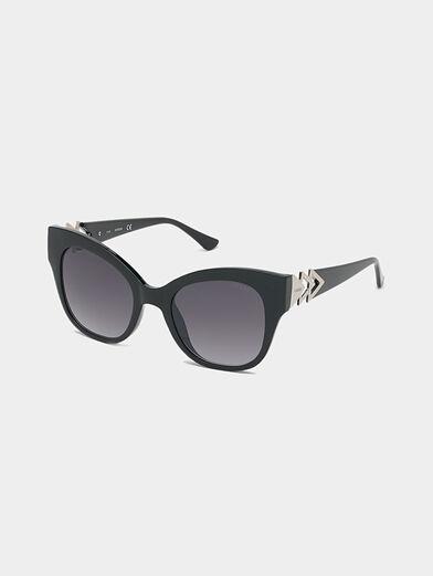 Black sunglasses with triangle logo - 1