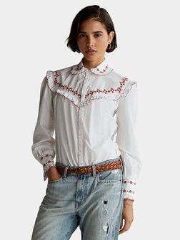 Бяла риза с бродерия - 1