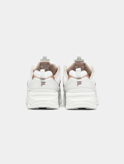 RAY M White sneakers with rose gold accents - 4