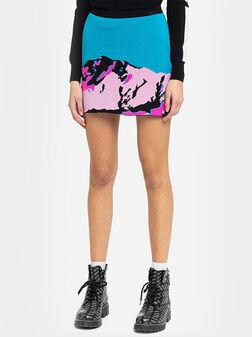Плетена пола с принт - 1