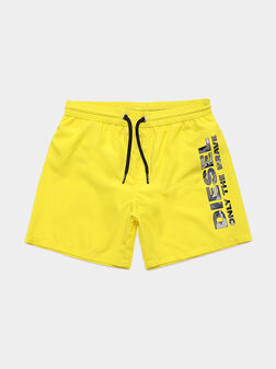 Swim shorts with camouflage logo - 1