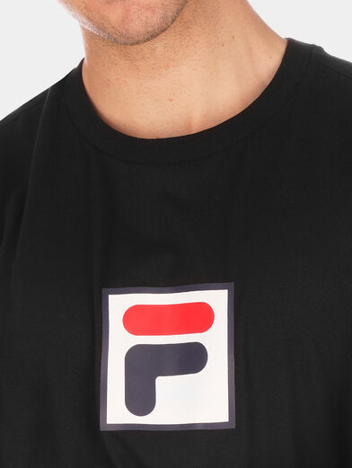 Black EVAN T-shirt with logo accent - 4