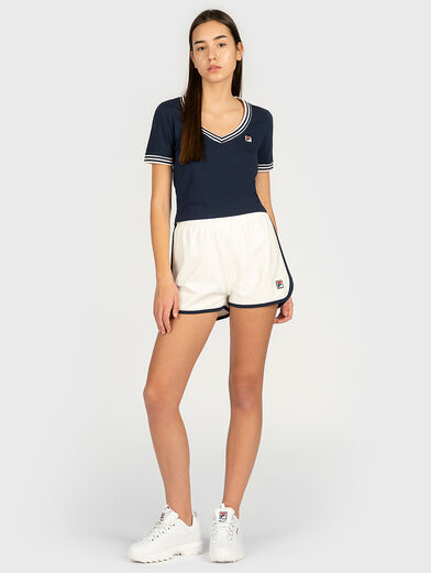 HEBE T-shirt with contrasting neckline - 4