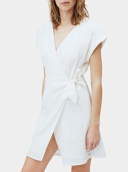 Ленена рокля в бял цвят  LOLITA - 1