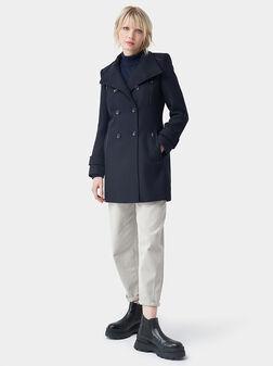 Палто в син цвят - 1