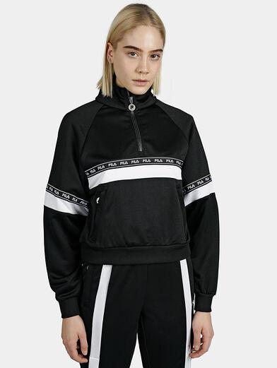 CHINAMI Black sweatshirt with half-zip - 1