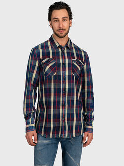 Shirt with checkered print - 1