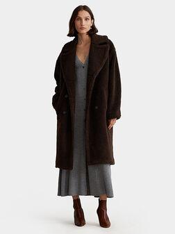 Дълго палто BRUIN от мека материя  - 1