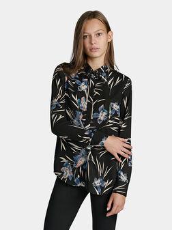 Ефирна блуза с флорален принт LUNAR - 1