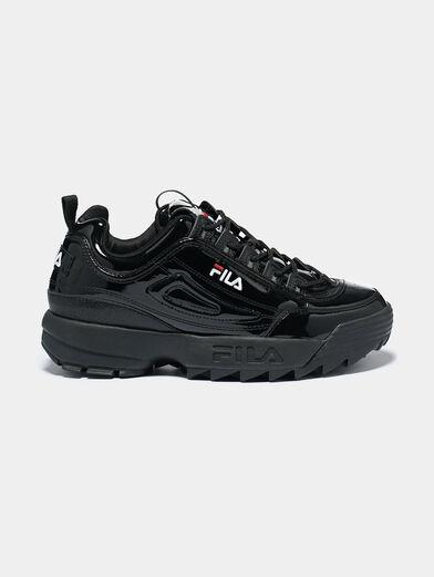 DISRUPTOR P Patent look black sneakers - 1