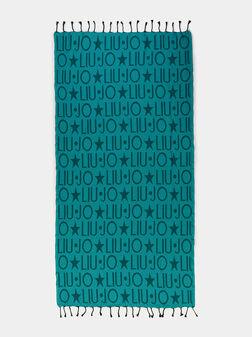 Плажна кърпа с монограмен лого принт - 1
