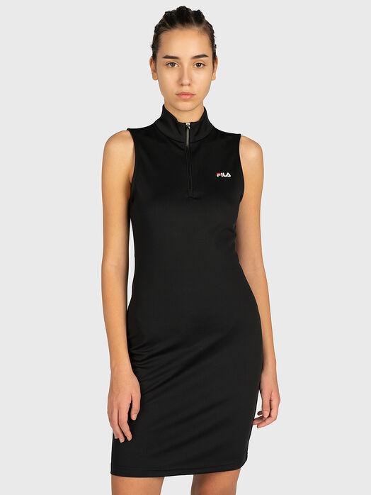CEARA Dress with a zip neckline