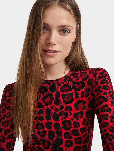 Dress with animal print - 4