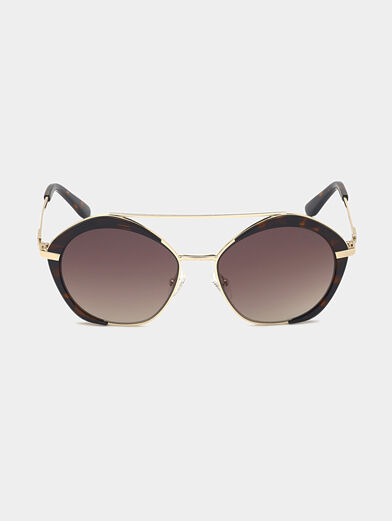 Sunglasses with brown glasses and gold frames - 6