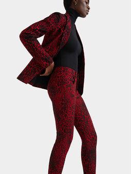 Animal print slim trousers - 3