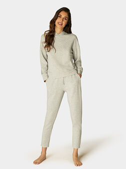 Панталон в сив цвят - 1