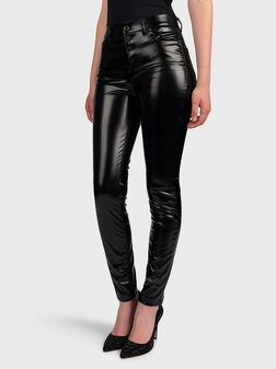 Black pants from faux leather - 1