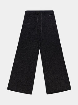 Pants with wide cuts and shiny threads - 1