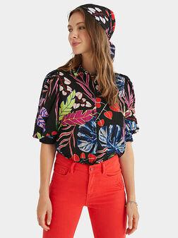 Блуза с флорален принт - 1