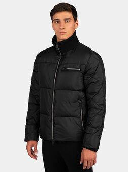 Подплатено яке в черен цвят - 1