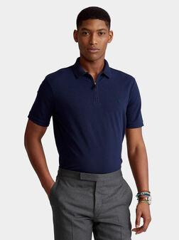 Dark blue polo-shirt - 1