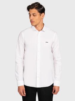 White shirt with logo detail - 1