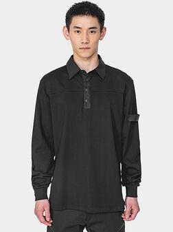 Памучна блуза с контрастни детайли - 1