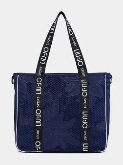 Чанта за рамо с бродирани елементи - 1