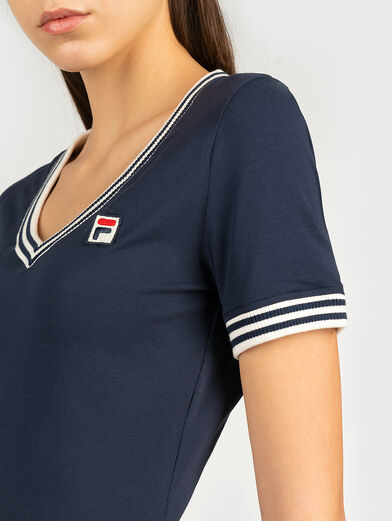 HEBE T-shirt with contrasting neckline - 3
