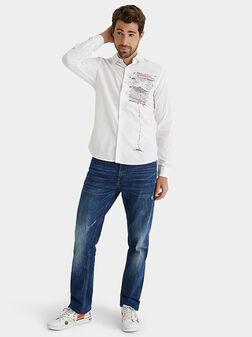 Риза с контрастен принт ADELINO - 1