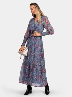 Макси рокля с пейсли принт - 1