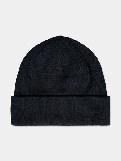 Black unisex beanie with logo embroidery - 2