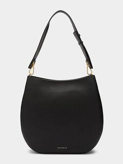 Черна кожена чанта ARPEGE MAXI - 1