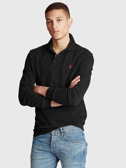 Черна блуза с лого - 1