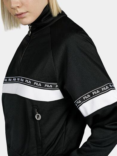 CHINAMI Black sweatshirt with half-zip - 2