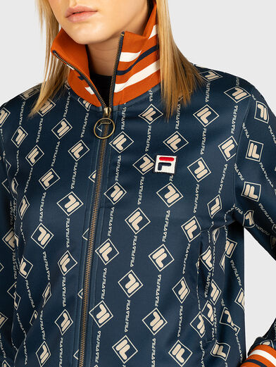 HAMO Sweatshirt with contrasting monogram print - 2