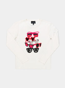 Cotton t-shirt with long sleeves - 1
