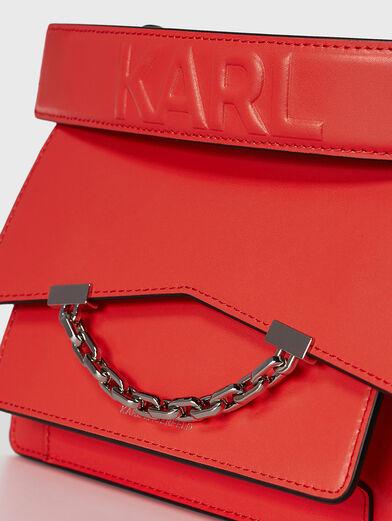K/KARL SEVEN bag with logo inscription - 4