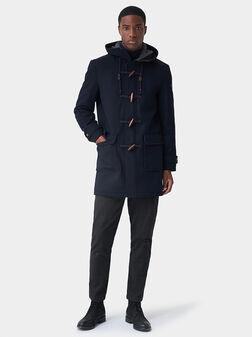 Синьо палто с копчета - 1