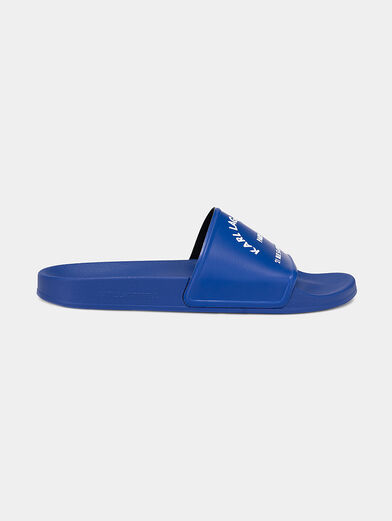 KONDO slides in blue with a contrasting logo - 1