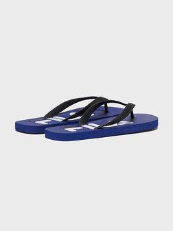 Плажни чехли в син цвят TROY - 1