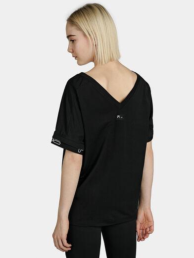 FAYE Black logo T-shirt - 4