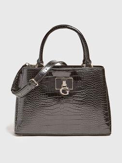 Чанта CARABEL с крокодилска текстура - 1