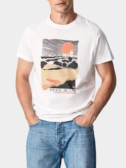 WAYNE T-shirt with maxi print - 1
